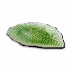 Txon 29.2cm Green Leaf Plate