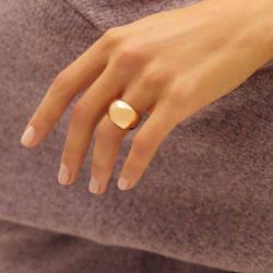 PARFOIS Wide Golden Ring for Women