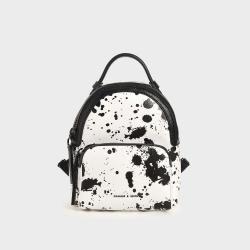 CHARLES & KEITH Women's Printed Double Zip Backpack