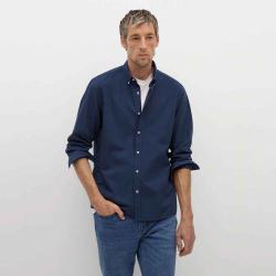 MANGO Men's Regular fit Oxford cotton shirt