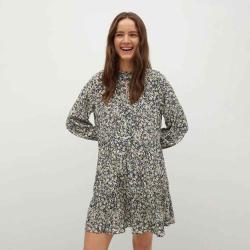 MANGO Women's Ruffle printed dress