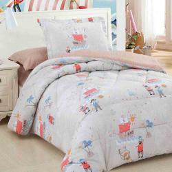 Abdeen Armn Kids 4 piece baby single and half comforter and text set with no filling caribbean design