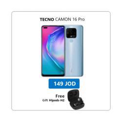 TECNO Reach Camon 16 Pro + Free gift TECNO hipods-H2