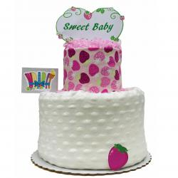 WrapIt - Strawberry Themed Diaper Cake - Baby Girl