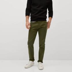 MANGO men's Slim fit denim-effect serge trousers