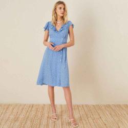 Monsoon Women's Spot print frill dress