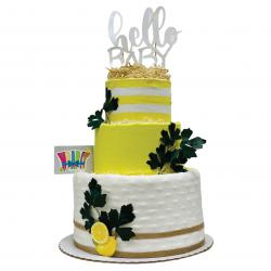 WrapIt - Lemon Themed Diaper Cake