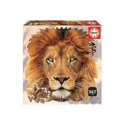 Puzzlers Lion animal face shaped puzzle