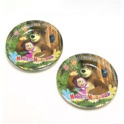 TXON Paper Plate Masha and The Bear 10 PCs - 23 Cm