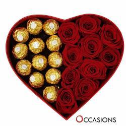 Occasions Red heart shaped Gift Box التوصيل داخل عمان فقط