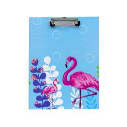 Flamingo Design 23.5x31.5cm Blue Clipboard