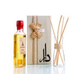 Dara Shop 250ml Home Diffuser Jasmin Flavor With 10 Bamboo Sticks & Glass Vase